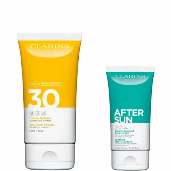 CLARINS SET CORPO CREME SOLAR PROTECTION FACTOR 30 150 ml, AFTER SUN 75 ml