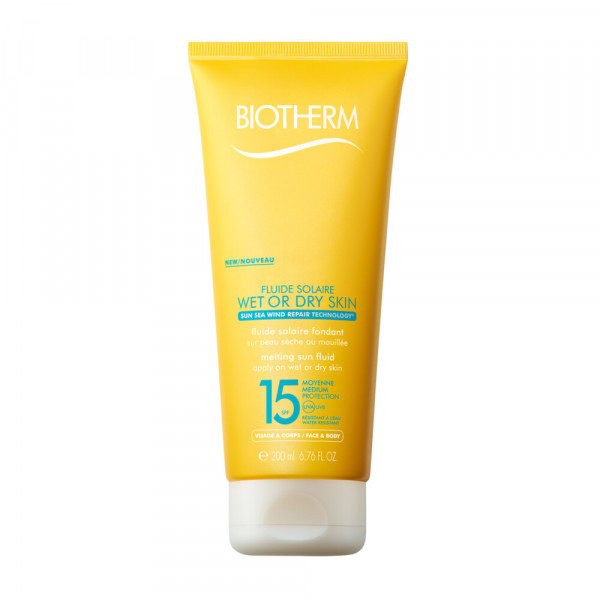 BIOTHERM SUN FLUIDO WET&DRY SOLAR PROTECTION FACTOR 15 200 ml