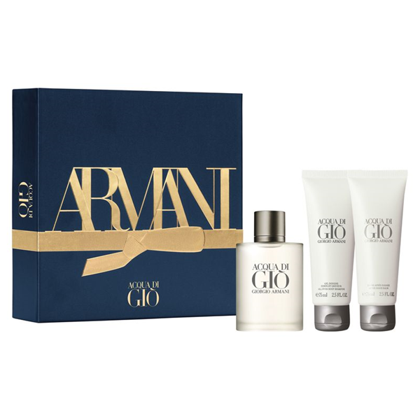 ARMANI ACQUA DI GIO SET EAU DE TOILETTE 50 ml, SHOWER GEL 75 ml, AFTER SHAVE 75 ml