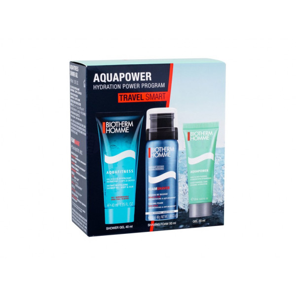 BIOTHERM HOMME AQUAPOWER PNM 75 ml, SHOWER GEL 75 ml, MOUSSE RASAGE 50 ml