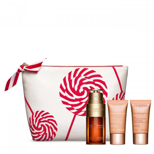 CLARINS DOUBLE SERUM 30 ml, EXTRA FIRMING CREME JOUR 15 ml, EXTRA FIRMING CREME NUTI 15 ml, POCHETTE