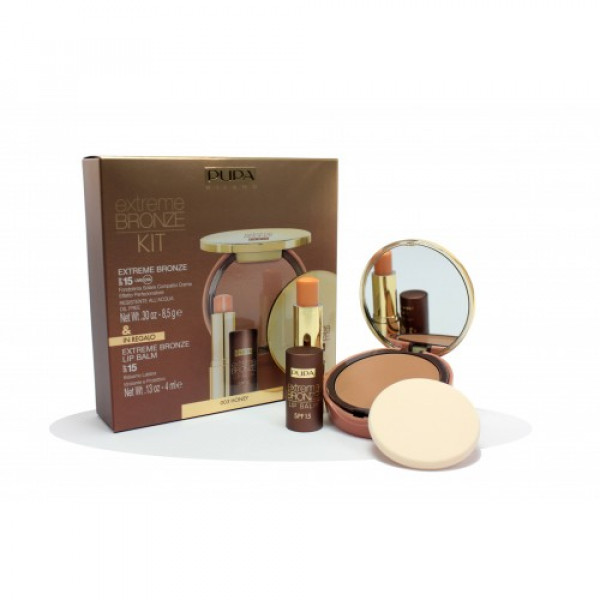 KIT FONDOTINTA SOLARE EXTREME BRONZE 03, BALM SOLAR PROTECTION FACTOR 15