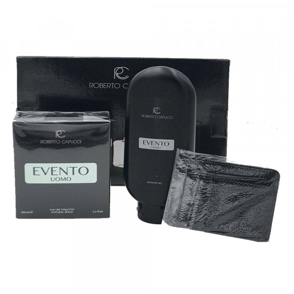 HOMME EVENTO SET EAU DE TOILETTE 100 ml, SHOWER GEL, PORTACARTE