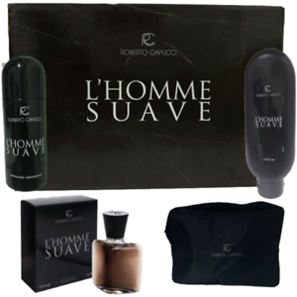 CAPUCCI  HOMME SUAVE SET EAU DE TOILETTE 100 ml, DEO, SHOWER GEL 400 ml, BEAUTY