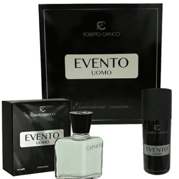 CAPUCCI  HOMME EVENTO SET AFTER SHAVE 100 ml, DEO